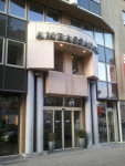 Picture entrance ambassador suites Antwerp.